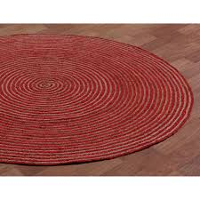 natural hemp red cotton racetrack round rug free rugs today small modern pier imports plush area affordable melbourne heated throw purple and