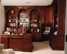 this looks just like my office the desk and the triple curved bookcase cherry custom home office desk