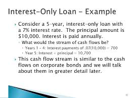 amortized loan with fixed prinl payment example