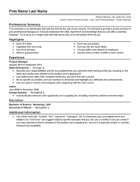 Resume Templates Stunning Sample Resume Templates Musiccityspiritsandcocktail