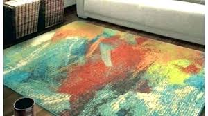colorful kitchen rugs for bright colored area colors round multicolored bright rugs