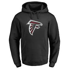 Logo Men's Hoodie Nfl Personalized Falcons Black Pullover Name Any Line amp; Pro Number Atlanta