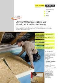 Für wohngesünderes bauen und leben. Verlegeanleitung Linzmeier Bauelemente Gmbh