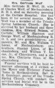 Wolf, Gertrude May Lucas Shannon obit - Newspapers.com