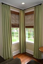 ideas of with corner curtain rod you wont miss decorating the corners too that awesome