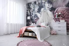 Room Interior With Comfortable Bed ...