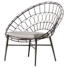silver brushed metal chair woven. Albin Loft Sunburst Metal Outdoor Lounge Chair Silver Brushed Woven