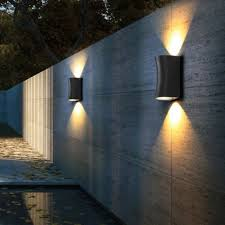 up down light wall scone light led outdoor modern design porch stair way lighting aluminum polish