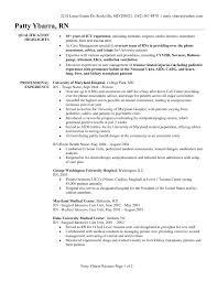 Registered Nurse Resume Template Free Sample Resume Cover Letter