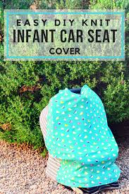 since i have this amazing serger i decided to make those really fun easy diy knit infant car seat cover as baby gift