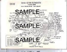 1946 1947 1948 chrysler full color laminated wiring diagram 11\