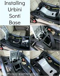 how to install a car seat base travel system installing britax b safe car seat base