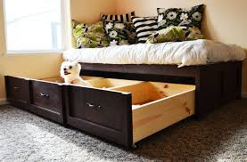 daybed with storage drawers contemporary ana white trundle diy projects 0