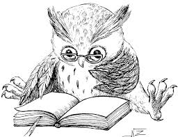 Reading Owl Rubber Stamp Wm Via