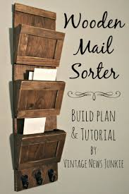 Mail Slot Organizer Build Your Own Wooden Mail Sorter Video Tutorial Mail  Sorter Home Improvement Mail
