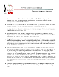 Classroom Management Suggestions
