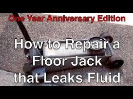 to repair a floor jack that leaks fluid