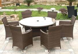 resin wicker dining table wicker patio furniture round wicker patio dining table set