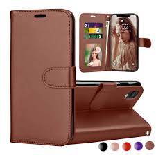 iphone xr case 2018 iphone xr wallet cover iphone xr pu leather cases njjex wrist strap flip folio kickstand pu leather wallet case with 3 id credit
