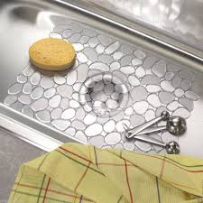 new deluxe clear pebbles non slip non scratch kitchen sink mat drainer 30 x 40cm co uk kitchen home