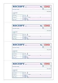 Tops Money Rent Receipt Book 3 Part Carbonless 11 X 7 5 8 Inches 4 Receipts Page 100 Sets Per Book 46808