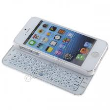 Ultra Thin Wireless Slide out Bluetooth Keyboard Case for iPhone 5
