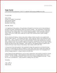 Unique Cover Letter Cover Letter Examples For Students In College Unique College Cover 17