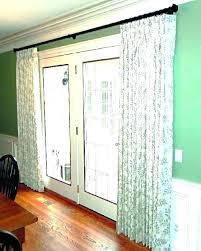 sliding door curtain ideas patio blinds curtains best rod for glass