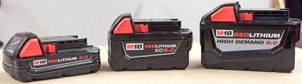 Milwaukee M18 Cordless Power Tool Battery Sizes Explained
