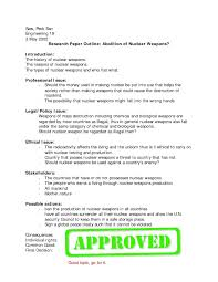 Outline For Research Paper Apa Style Template Word Sample Or