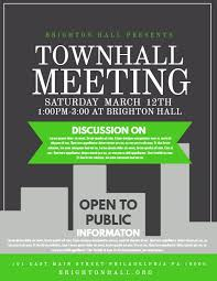 Political Event Flyer Townhall Meeting Event Flyer Design Click To Customize Event