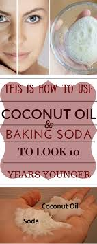 how to use coconut oil and baking soda to get rid of wrinkles and fine lines