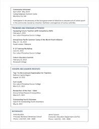 Student Cv Examples 18 High School Student Resume Template For College World Wide Herald