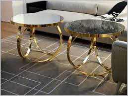 charming nella contemporary italian gold metal coffee table glass side tables for