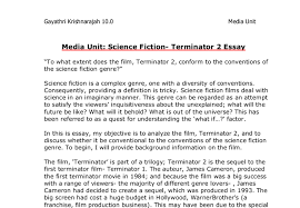 sci fi essay compare and contrast essay sci fi movie comparison  to what extent does the film terminator conform to the document image preview
