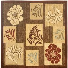 safavieh lyndhurst brown and multicolor square indoor machine made area rug common 7