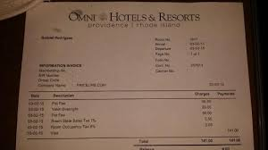Hotel Receipt Receipt Proving Being Double Charged For Pet Fees Picture