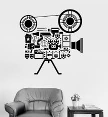 Vinyl Wall Decal Film Cinema Movie Camera Filming Art Room Stickers (ig3151)