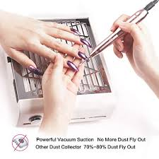 amazon ecbasket nail dust suction collector nail grinding polishing dust suction extractor with no spilling filter 40w strong power beauty