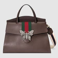 gucci bags brown. guccitotem large top handle bag gucci bags brown