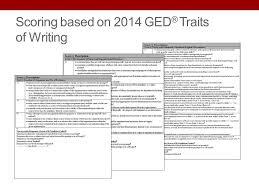 focus on ged acirc reg test content reasoning through language arts scoring based on 2014 gedacircreg traits of writing