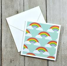 Rainbow Mini Cards Small Enclosure Cards Birthday Cards Gift Tags Blank Note Cards Gift Tag Set Mini Envelopes