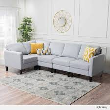 light gray fabric sectional