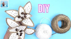 <b>Handmade Jute Flowers</b> | How to Make | Art and Craft Ideas - YouTube