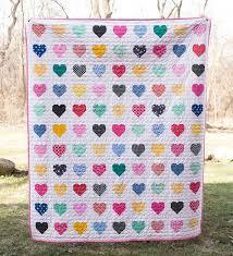 Best 25+ Heart quilts ideas on Pinterest | Heart quilt pattern ... & Hanna Hearts Quilt : Fresh Lemons Quilts // Simple Heart Tutorial by Cluck  Cluck Sew Adamdwight.com