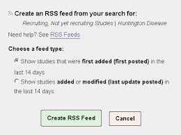RSS Feeds - ClinicalTrials.gov