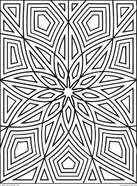 Geometric Patterns Coloring Pages For Kids 452610