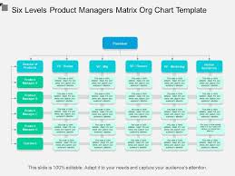 Six Levels Product Managers Matrix Org Chart Template