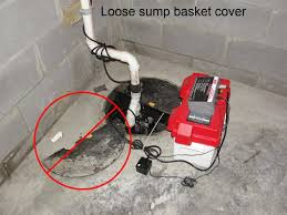 a loose or missing sump basket cover