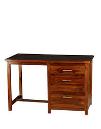 buy fabindia brown sheesham study table with drawers online